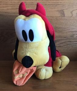 "Disney 11"" Pluto ""Pumpkin Body"" Series 1 Plush Animal Sega D"