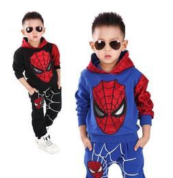 2019 <font><b>Kids</b></font> Spiderman Cosplay Clothing Set