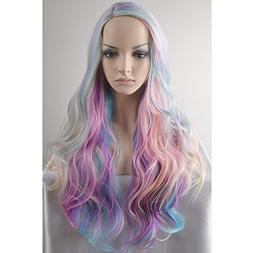 BERON Long Curly Multi-Color Charming Full Wigs for Cosplay