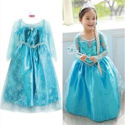 3-8years Blue Baby Girls <font><b>Dress</b></font> <font><b>
