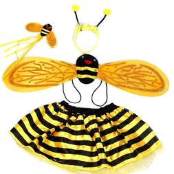 4 Piece Sets Halloween Christmas Bee Ladybug <font><b>Costum