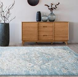 4620 Distressed Blue 7'10x10'6 Area Rug Carpet Large