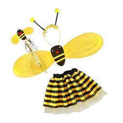 4Pc Bumble Bee Honey <font><b>Girls</b></font> <font><b>Kids
