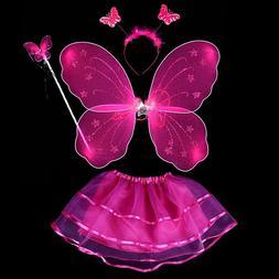 4Pcs Fairy Princess <font><b>Kids</b></font> <font><b>Costum