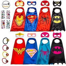 Dropplex 8 Superhero Capes for Kids - Super Hero Toys & Cost