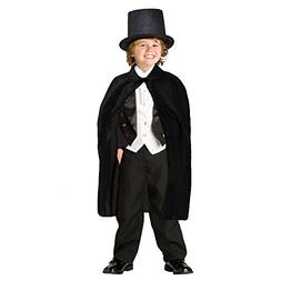 Dazzling Toys Children's Black Magician Cape with Magician H