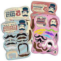 Mr. Moustachio's Facial Hair Four Pack: Top Ten Manliest, Gi