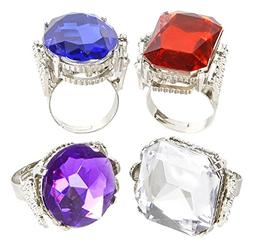 Rhode Island Novelty Jumbo Jeweled Rings Assortment