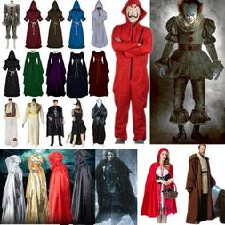 Adult Halloween Costumes Cosplay Men Women Jumpsuit Dress Ou