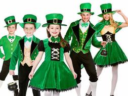 Adult Kids Irish St Patricks Day Outfit Leprechaun Fancy Dre
