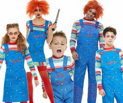 Adults Chucky Costume Mens Ladies Kids Halloween Childs Play
