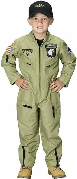 Aeromax Jr. Fighter Pilot Suit Costume Embroidered Cap Kids