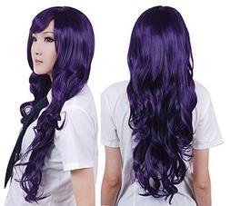 "Anogol?Vocaloid 32"" 80cm Long Wavy Wigs Purple Lolita Cospla"
