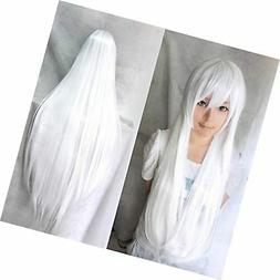 Anogol Vocaloid 32inches Long Straight Wigs Lolita White Cos
