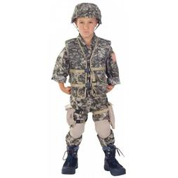Army Costume Kids Soldier Halloween Fancy Dress
