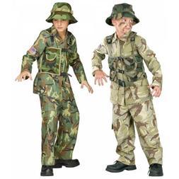 Army Costume Kids Soldier Navy Seal Halloween Fancy Dress