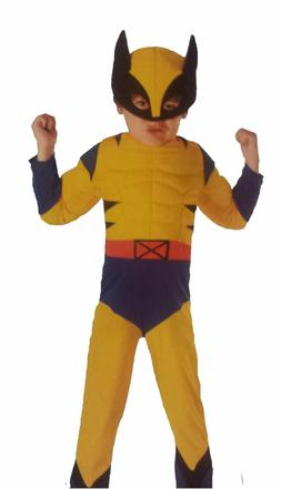 Disguise Marvel X-MEN WOLVERINE Muscle Costume Kids 3T/4T Sm