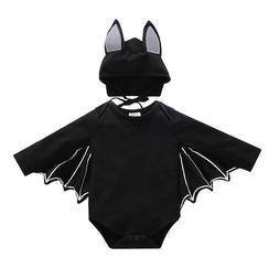 Baby Toddler Kids Halloween Bat Costume Cosplay Romper with