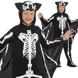 Bat Skeleton Costume Halloween Boys Childrens Child Kids Fan