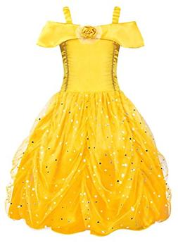 AmzBarley Belle Princess Dress for Little Girls Toddler Kids
