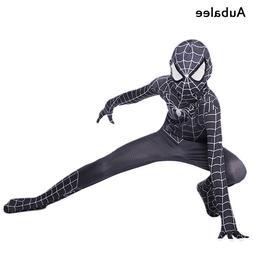 Black Spiderman Cosplay Costume For Boys Kids Halloween Part