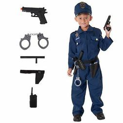 Boy Policeman Fancy Dress Kids Police Cop Costume Officer wi
