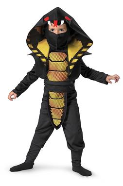 Boys Cobra Ninja Costume Asian Snake Samurai Fighter Child T