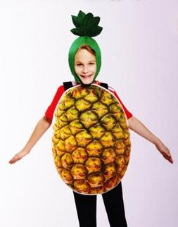 Boys Girls Kids PINEAPPLE Halloween Purim Costume Fruit Funn