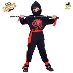 Boys Ninja Costume Kids Masquerade Party Cool Assassin Decor