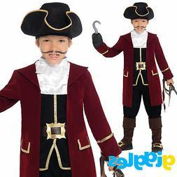 Boys Pirate Captain Costume Fancy Dress World Book Day Week