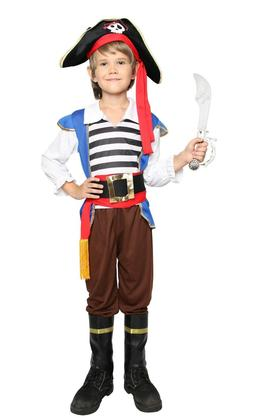 Boys Pirate Captain Hook Fancy Dress Halloween Kids Child Co