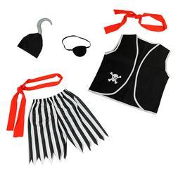 Boys Pirate Costume Accessories Set 6 Pcs - Child Halloween