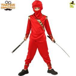 boys red ninja costume kids masquerade party