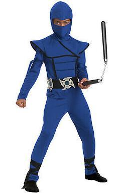 Brand New Japanese Samurai Stealth Ninja Boys Child Costume