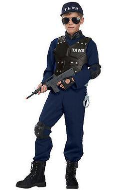 Brand New Junior SWAT Team Police Officer Child Costume
