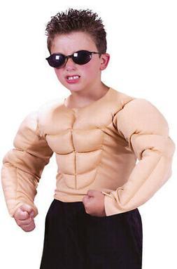 Brand New Muscle Shirt Boys Kids Child Halloween Costume