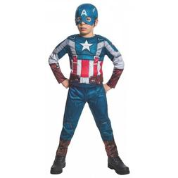 Captain America Costume Kids Avengers Superhero Halloween Fa
