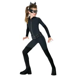 Catwoman Costume Girls Kids Child Size Batman Villain