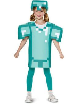 Child's Boys Classic Minecraft Armor Mine Craft Mojang Costu