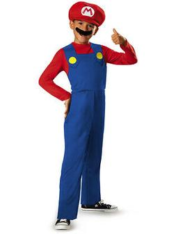 Child's Disney Classic Super Mario Brothers Mario Costume