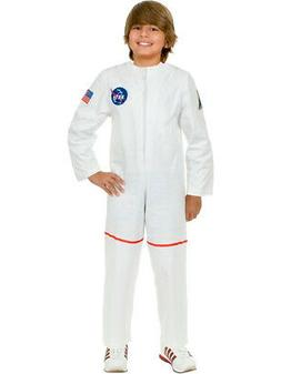 Child's White Astronaut Girls NASA Boys Costume