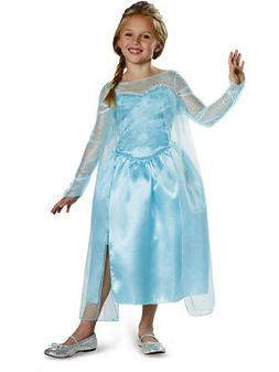 Childs Girls Disney Classic Blue Frozen Princess Elsa Snow Q