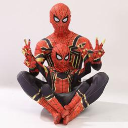 Christmas Party Boy Iron Spiderman Costume Kids Superhero Co