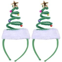 ADJOY Christmas Tree Headband for Girls Boys Baby Women Men