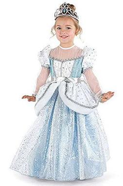 AOVCLKID Cinderella Costume Little Girls Dress up Toddler Ba