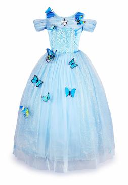 Cinderella Dress Girls Princess Costume Party Dress Up Butte