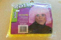 WIGS Costume Kids Size 8 and up Yellow Afro New In Package
