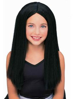 Kids Childrens Costume Long Black Straight Witch or Vampire