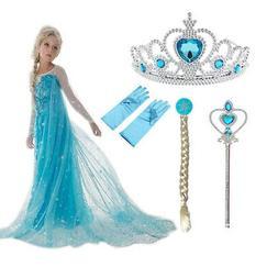 Costumes Girls Elsa Anna Princess Party Dress Frozen Fancy C