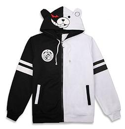 GK-O Danganronpa Monokuma Black and White Bear Hoodie Jacket